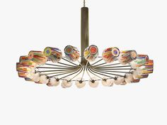 Contemporary chandelier / brass / blown glass / LED CANDY RING by Campana Brothers LASVIT