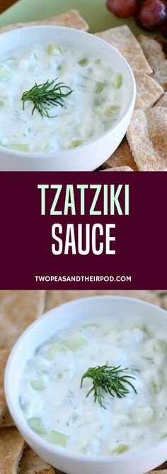 Tzatziki Sauce Is A Traditional Greek Sauce That Is Good On Just About Everything. This Easy Refreshing Cucumber Sauce Only Takes 10 Minutes To Make And Is Very Versatile. This Classic Recipe Is Always A Hit! Greek Yogurt Tzatziki Recipe, Tzatziki Sauce Recipe Easy, Tzatziki Recipes, Tzatziki Dressing Recipe, Greek Cucumber Sauce, Homemade Tzatziki, Greek Recipes, New Recipes, Vegetarian Recipes