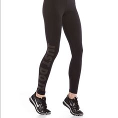 Just do it leggings Worn and washed only once size large black with black just do it writing down the right leg super comfy legging pants. I do not trade & only accept offers through offer button Nike Pants Track Pants & Joggers