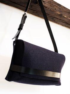 a5abe11c0ad9 felt messenger bag by agneskovacs
