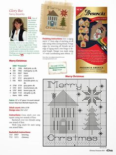ru / Фото - Just Cross Stitch Special Christmas 2013 - tymannost Cross Stitch Christmas Ornaments, Xmas Cross Stitch, Just Cross Stitch, Cross Stitch Finishing, Cross Stitch Alphabet, Cross Stitch Kits, Christmas Cross, Cross Stitch Charts, Cross Stitch Designs