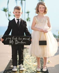 Sign/Ring Bearer and Flower Girl Outfits