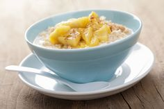 Break the fast with Warm Maple Syrup & Cinnamon Apple Porridge #breakfast