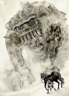 #shadowofthecolossus | by beco http://www.pixiv.net/member.php?id=2709975