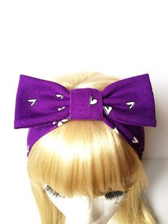 Love Purple Love People retro heart dot kids head band :) Love Factory By Rie Miyamoto on Etsy, $15.00