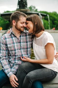That's what love is!  Central Park engagement - // Aaron and Jillian Photography - Charleston Wedding Photographer