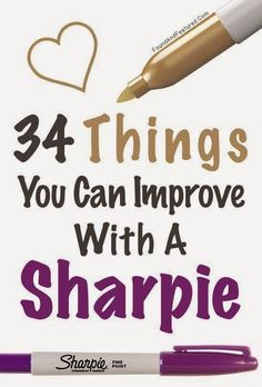 Craft Project Ideas: 34 Things You Can Improve With A Sharpie