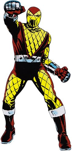 "Shocker has proven to be a constant presence among Spider-Man's gallery of enemies. The Shocker wears a pair of gauntlets he designed known as ""vibro-smashers"" that, when activated by a pump-action thumb trigger, can project a concentrated blast of compressed air that vibrates at an intense frequency. This creates a series of rapid-succession high-pressure air blasts that allows long range vibrational punches from a distance, creating destructive vibrations that can crumble solid concrete."