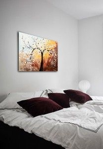 Poza tabloul expus pe perete (1) Bed, Modern, Furniture, Home Decor, Homemade Home Decor, Trendy Tree, Stream Bed, Home Furnishings, Interior Design