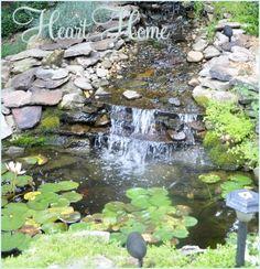 DIY Backyard Waterfall & Pond | All Things Heart and Home