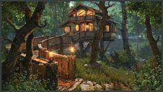 ArtStation - House in the woods, Alexey Gaifutdinov
