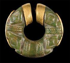 Nose Ring  Gran Coclé  Gold and Jade, 700-1000 CE