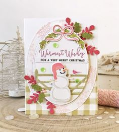 Very Merry Christmas Card by Melissa Phillips for Papertrey Ink (November Winter Cards, Holiday Cards, Snowman Cards, Merry Little Christmas, Album, Card Tags, Christmas Crafts, Christmas Ideas, Card Making