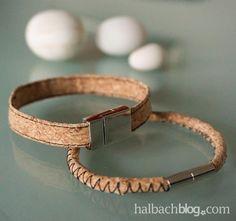 halbachblog I Ganz fix: Korkstoff Armband nähen I DIY-Anleitung für zwei lässige Varianten