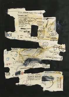 JEAN-MICHEL BASQUIAT UNTITLED oil and oilstick on paper 41 1/2 by 29 1/2 in. 105.4 by 74.9 cm. 1984.