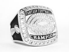 The King JoneZ High Quality 2015 Fantasy Football Championship ring. Available only at FantasyJoneZ.com! Order now to have it in time for your Draft Party!