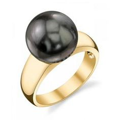 Tahitian South Sea BLACK Pearl Ring (also available in SILVER Pearl) - 14K Gold