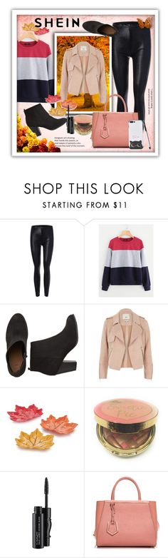 """""""Shein"""" by lamijabojagic ❤ liked on Polyvore featuring River Island, Too Faced Cosmetics, MAC Cosmetics and Fendi"""