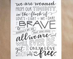 CUSTOM HandLettered Quote Maya Angelou Poem Love by EmDashPaperCo
