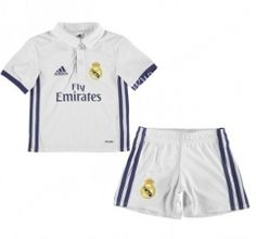 2016-17 Real Madrid Home White Kids/Youth Soccer Uniform
