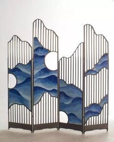 The cloud screen - Design & Room Divider & Shelves World Partition Screen, Partition Design, Folding Screen Room Divider, Partition Ideas, Partition Walls, Folding Screens, Screen Doors, Screen Design, Elegant Home Decor