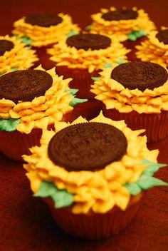 Cupcakes de girasol