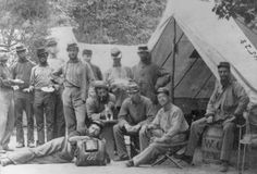 """""""9th New York Militia, June 1861: One of Brady's early subjects was the growing number of Union camps in and around Washington, D.C., in the early months of the Civil War. (Photo Credit: Library of Congress )."""""""