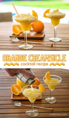 This Orange Creamsicle cocktail is a delicious summer drink, balanced between hints of vanilla-orange with a touch of alcohol. If you want to treat yourself to a delicious desert without overwhelming sweet notes, this just might become a new favorite of yours. #cocktailhour Drinks Alcohol Recipes, Fruit Recipes, Drink Recipes, Delicious Recipes, Dessert Recipes, Healthy Recipes, Desserts, Vodka Cocktails, Martinis