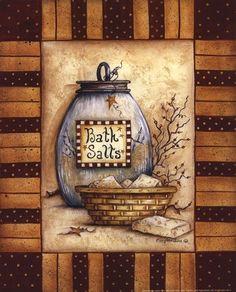 Bath Salts Fine-Art Print by Mary Ann June at UrbanLoftArt.com