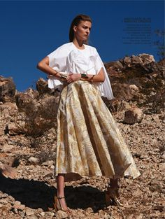 FUTUR II: Emeline Ghesquiere by Paul Empson for Glamour Germany march Veronique Tristram - Fashion Editor/Stylist Lace Skirt, Midi Skirt, Delpozo, Timeless Design, Editorial Fashion, Fashion Photography, Germany, Vogue, Stylists
