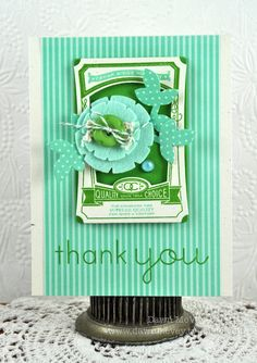 Thank You Card by Dawn McVey for Papertrey Ink (April 2012)