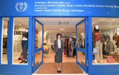 Miranda July - interfaith secondhand shop in the heart of London's favourite department store