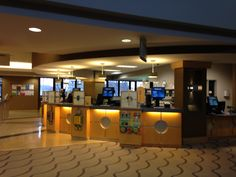 Circulation desk with self checkout stations