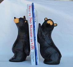 Bearfoots Bear Foots Bookends Big Sky Carvers Montana Jeff Fleming & Julio