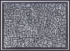 Happy Birthday Card. Hand drawn printable cards. Easy instructions.