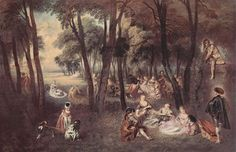 Entertainment countryside - Antoine Watteau