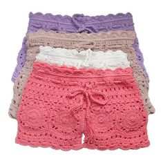 Instead of  crocheting into shorts just forget the split and make a skirt out of it!! You could even sew material to the inside of the skirt to make it more appropriate!!