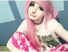 , exotic candy floss, and emo pink scene hair image