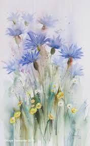 watercolour cornflower에 대한 이미지 검색결과