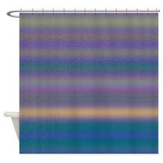 Castilina Moon Shower Curtain - Add color to your bathroom with this shower curtain with shades of green, blue, purple and yellow.