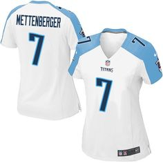 2ff174caf27 Zach Mettenberger Women's Elite White Jersey: Nike NFL Tennessee Titans Road  #7