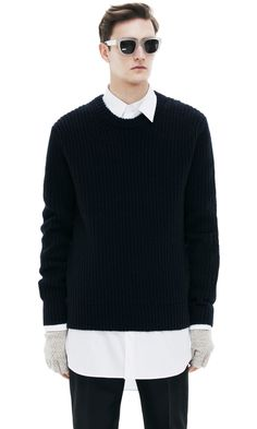 This is how you layer a sweater, guys. #menswear #minimalistfashion