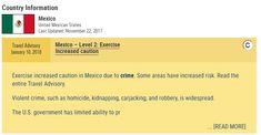 Emite Estados Unidos aviso para viajar a 5 estados de México; Empleados del gobierno tienen prohibido viajar a algunas partes de Chihuahua | El Puntero