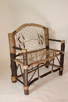 Dream Ca' Bench No.2 Recycled Tree Limb Furniture by AlexHagendorf, $960.00