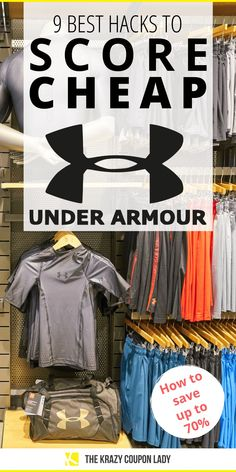 Learning how to save on Under Armour is easy with these tips and hacks to help you save money on Under Armour clothes and accessories from The Krazy Coupon Lady. Under Armour sales and deals are a bit trickier to find than, say, Nike, but we've got workarounds for this, plus a few little-known places to look for Under Armour sales! Click to read more about how to get discounts on Under Armour for kids, men, and women. #savemoney #athleisure #athleticwear Under Armour Store, Cheap Under Armour, Under Armour Men, Under Armour Outfits, Beauty Makeover, Black Friday 2019, Brand Name Clothing, Sales Tips, Online Discount
