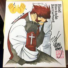 #KekkaiSensen Blood Blockade Battlefront dessin sur #Shikishi #Manga #Anime
