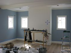 benjamin moore winter lake blue - if I do a blue living room, it would be this color