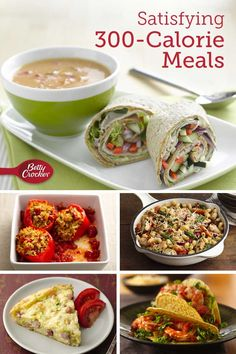 Satisfying Meals Wholesome, flavorful and totally satisfying — 30 amazing meals with fewer calories than you'd expect. From easy weeknight chicken dinners to lower-calorie casseroles, you'll love these recipes! Low Calorie Dinners, No Calorie Foods, Low Calorie Recipes, Diet Recipes, Cooking Recipes, Healthy Recipes, Under 300 Calorie Meals, 300 Calorie Dinner, Recipies