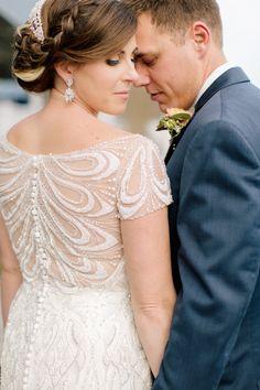 wedding dress detail - photo by Brandilynn Aines Photography http://ruffledblog.com/irish-mist-wedding-inspiration