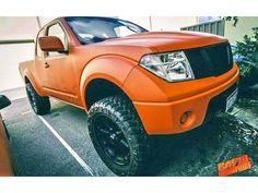 This Nissan Navara, Frontier looks rather cool in orange.